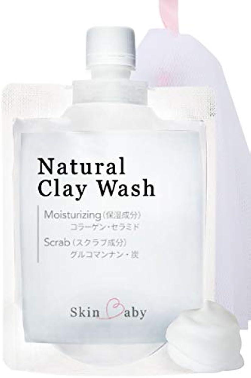 制裁ビジョン童謡SkinBaby 敏感肌 乾燥肌 洗顔 洗顔料 洗顔フォーム 100g クレイ洗顔 泥洗顔 炭洗顔 泡立てネット付き