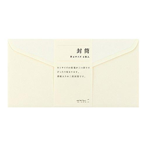 [해외]미도리 봉투 & lt; 서양 6 & gt; 크림 20444006/Midori envelope & lt; Western 6 & gt; cream 20444006