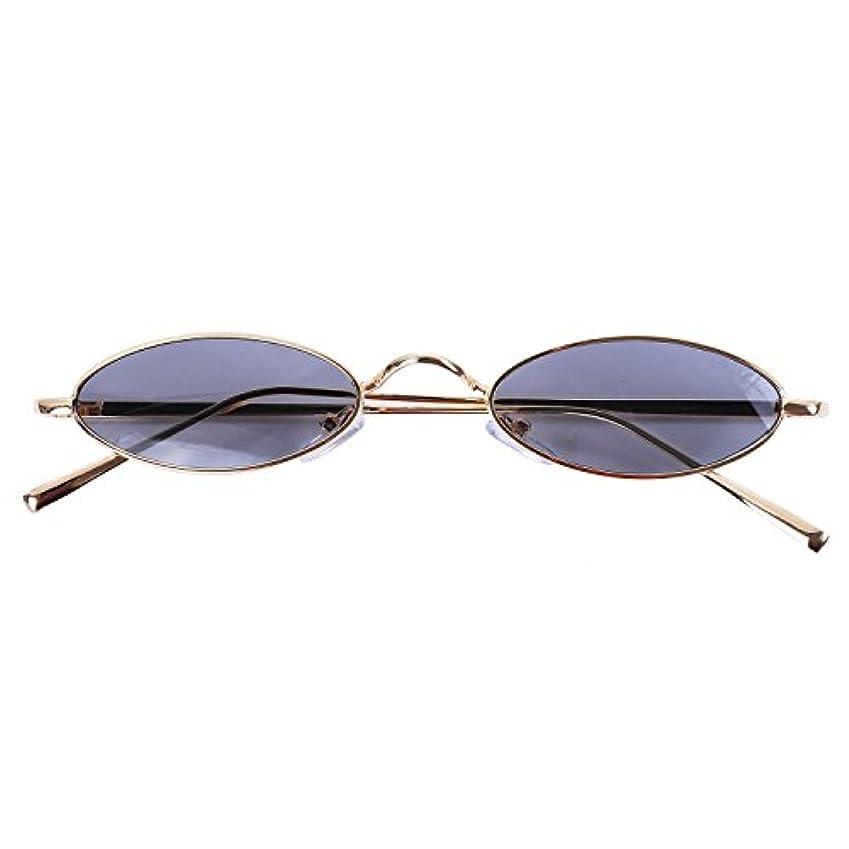 マウス項目仲間、同僚SODIAL 小型円いサングラス女性ヴィンテージレディースサングラスレトロサングラス- 女性の眼鏡S8011金色の枠+黒色