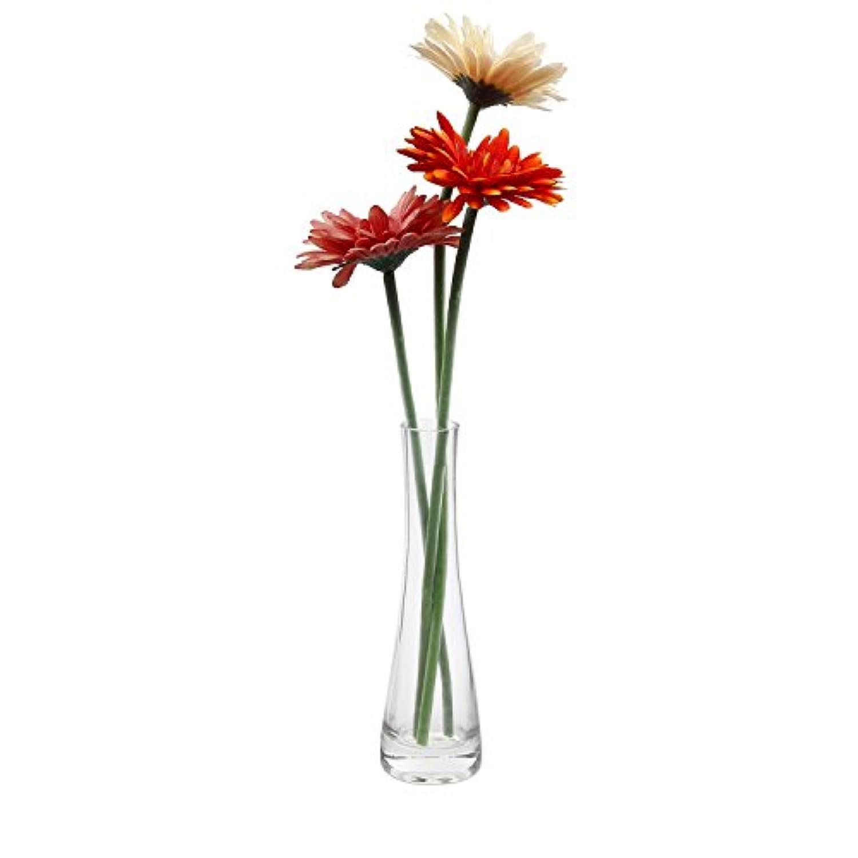 T4U 21.5cm 花瓶 ミニ花器 ガラス製 透明
