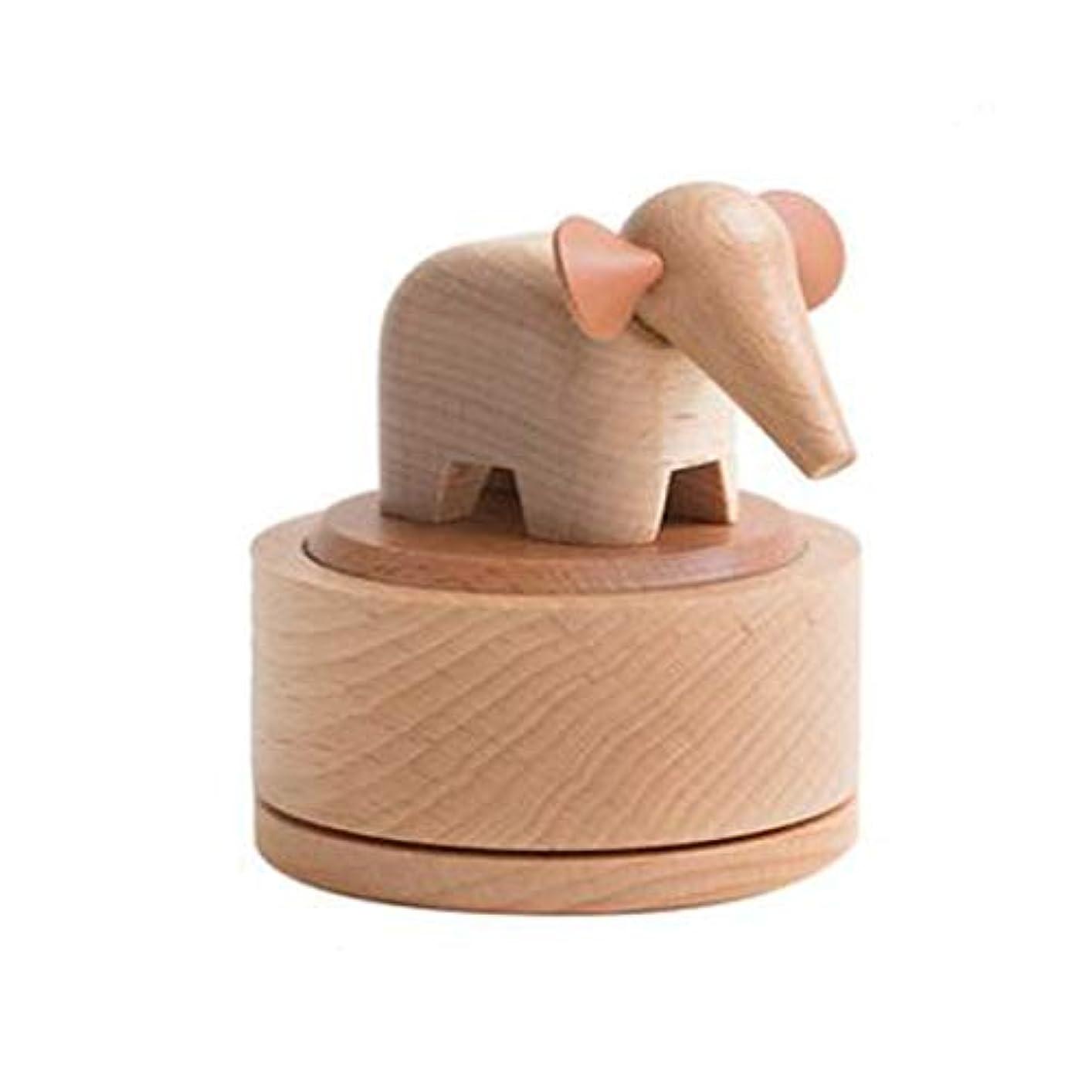 注釈統計的バズAishanghuayi ギフト豚オルゴールスカイシティオルゴール木製回転クリエイティブ送信女の子カップル誕生日ギフト,ファッションオーナメント (Style : Pig)