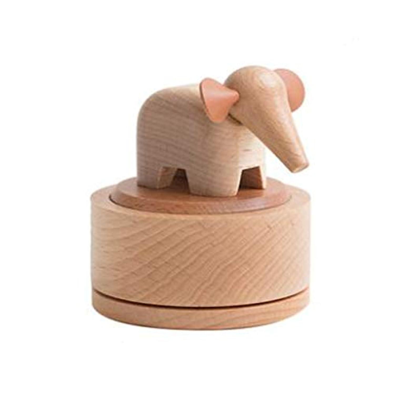 バラエティマーキングコーナーAishanghuayi ギフト豚オルゴールスカイシティオルゴール木製回転クリエイティブ送信女の子カップル誕生日ギフト,ファッションオーナメント (Style : Pig)