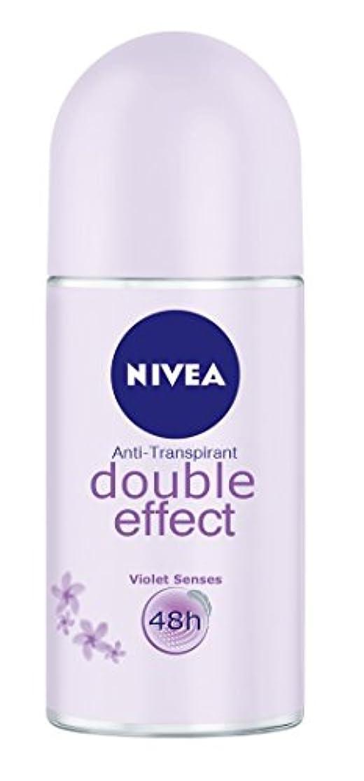不快やがて主要なNivea Double Effect (Violet Senses) Anti-perspirant Deodorant Roll On for Women 50ml - ニベアダブル効果(バイオレット感覚) 制汗剤デオドラントロールオン...