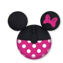 モバイル マウス (光学式・ USB接続) アイコン モチーフ ミニーマウス ディズニー パソコン周辺機器