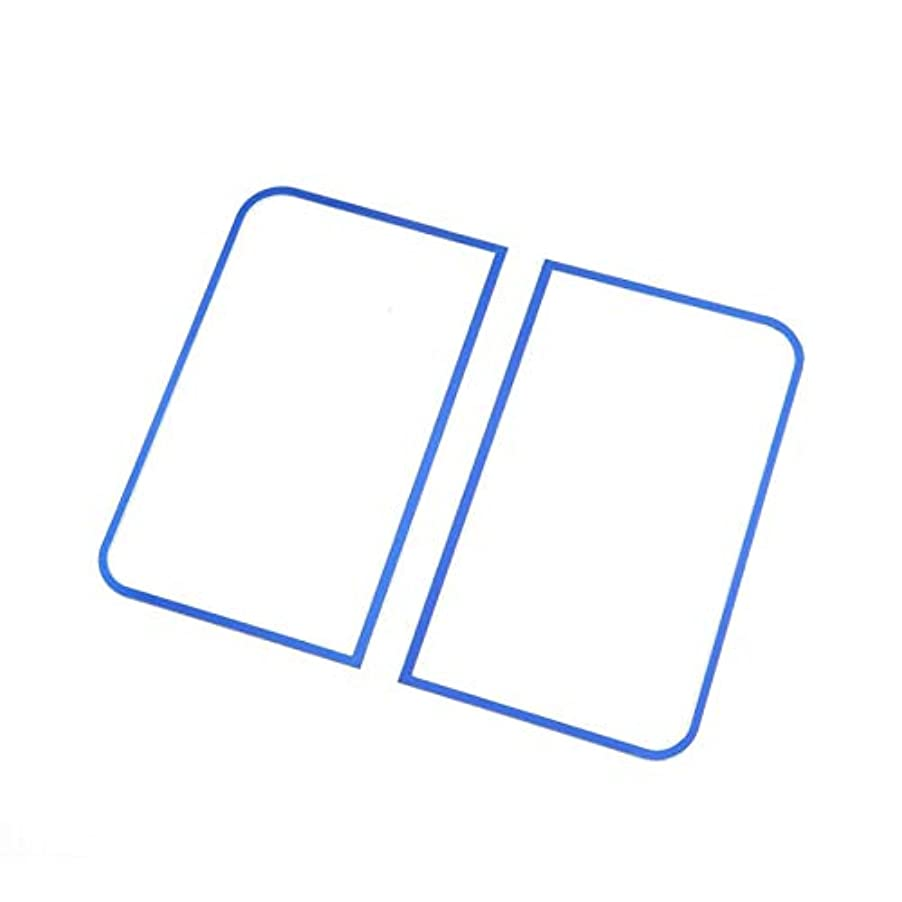 放射能落ち着かない音声Jicorzo - Car Styling Dashboard Sound Speaker Cover Trim Interior Decor Frame Molding Chrome ABS Sticker For Jeep Wrangler JK 2011-2016 [Blue]