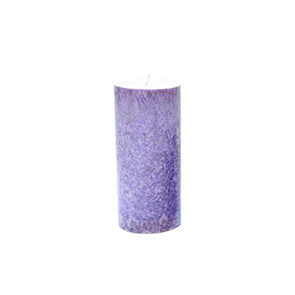 効率ソブリケット評議会Rakuby 香料入り 蝋燭 ロマンチック 紫色 ラベンダー アロマ療法 柱 蝋燭 祝祭 結婚祝い 無煙蝋燭