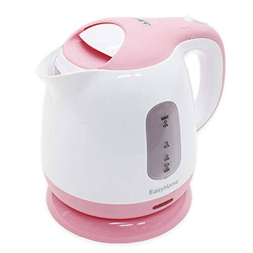電気ケトル ピンク 1.0L 1L 電気ケトル 1000ml 容量 800W 安全 衛生 おしゃれ お洒落 家庭 電気ポット 湯沸かし器