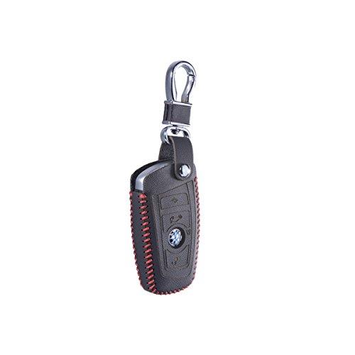 DKMUS適用BMW 5 F30 F20 X1 X3 X5 X4 X6 M1 M2 M3 GT F05 F07 F10 F11 F20 F30 Z4 520 525 520I 530D E30 E34 E90 E60 E36 E39 E46 E70 E90本革キーカバーリモートケースチェーンシェルスマートキーケース キーホルダーキーバッグ (標準品質赤)