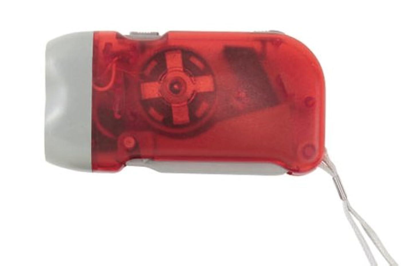 予報現実想定するミムゴ(MIMUGO) 蓄電式LEDライト おたすけくん 赤 【電池不要】 #11365 RD