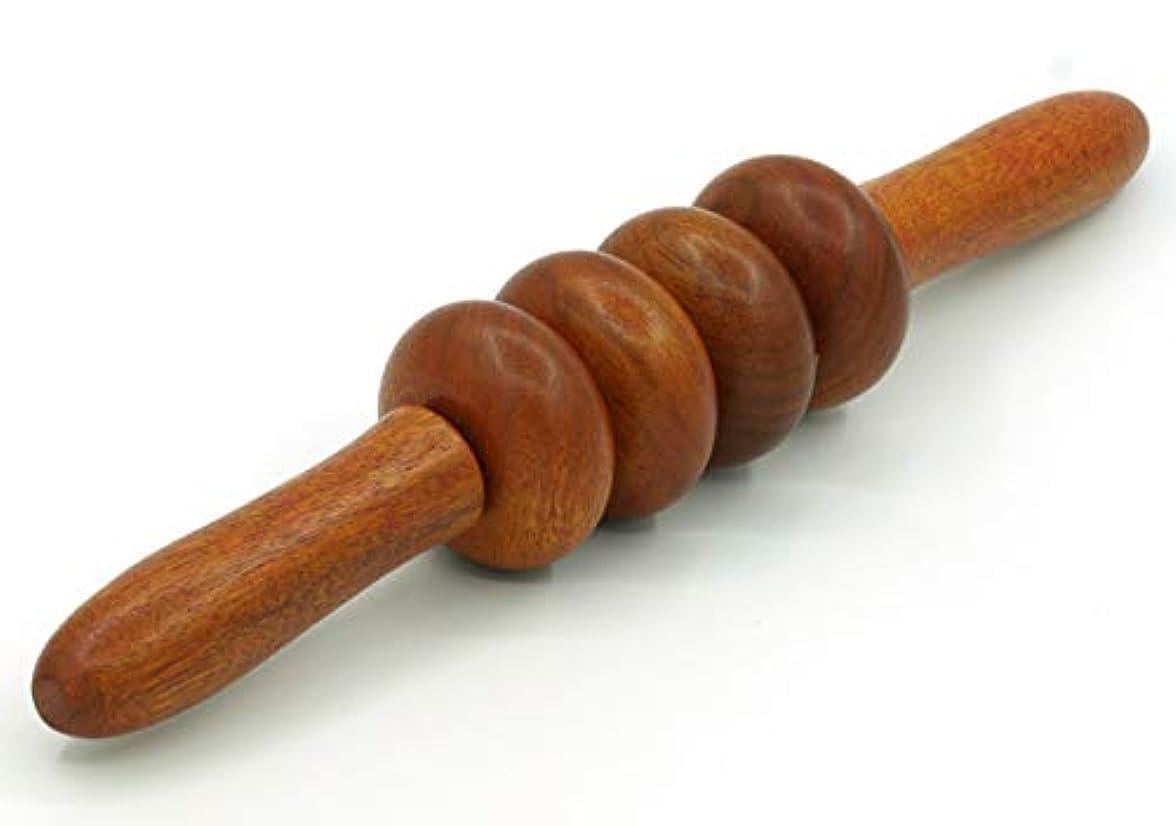 ハンドブック本土ビルダー木製 マッサージ ローラー 棒 4玉