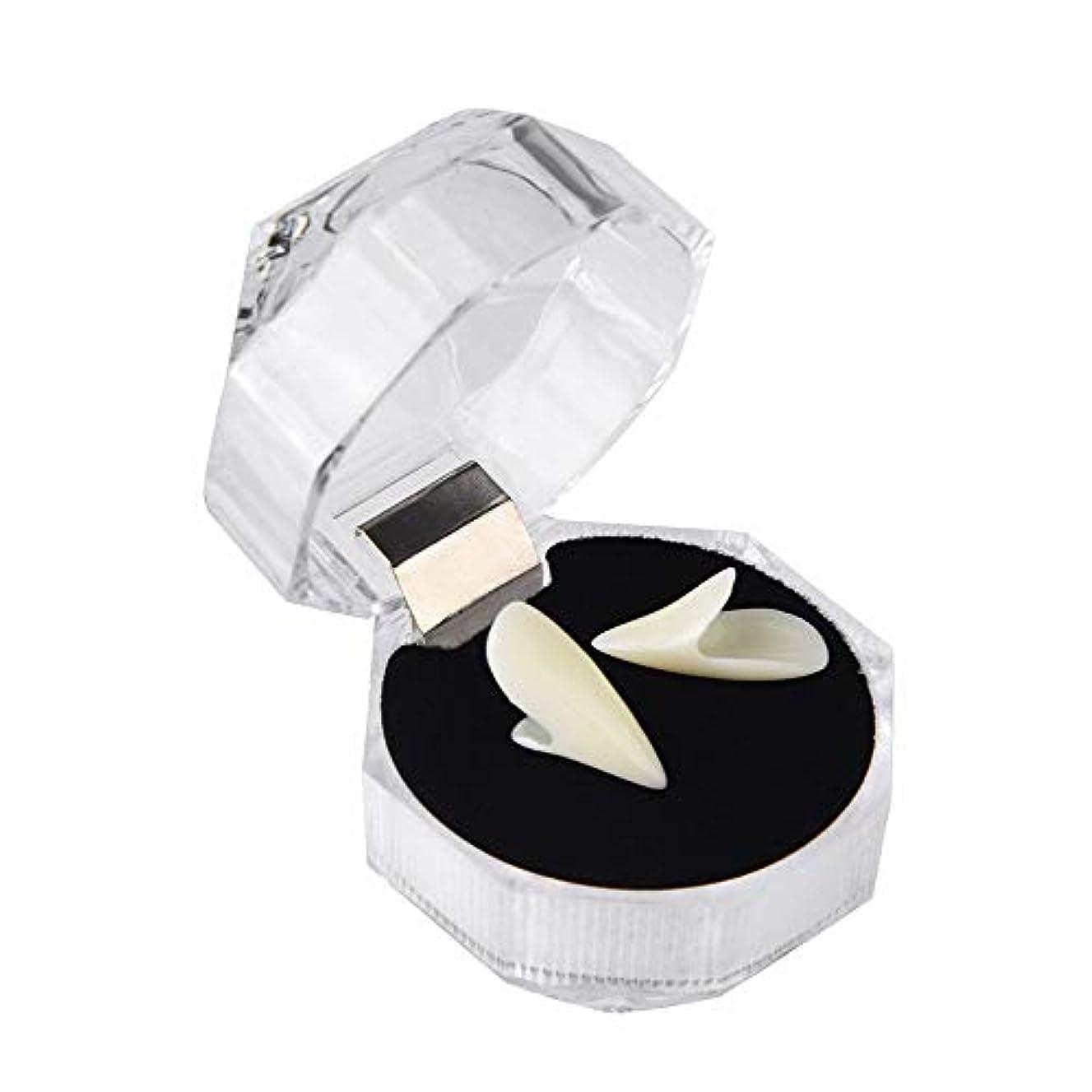 2ピースユニセックスハロウィンロールプレイングゾンビ義歯、樹脂にやさしい食品グレード義歯(歯のジェル付き),17mm