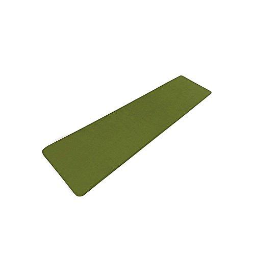 キッチンマット 60×180cm ラグ カーペット ラグマット 絨毯 台所 廊下用 低反発 すべり止め 洗える 拭ける 北欧 (グリーン)