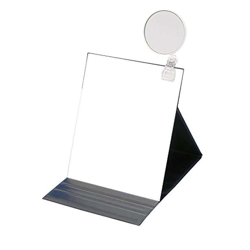 それによって浸す震えるナピュアミラー 5倍拡大鏡付きプロモデル折立ナピュアミラー3L ブラック HP-53×5
