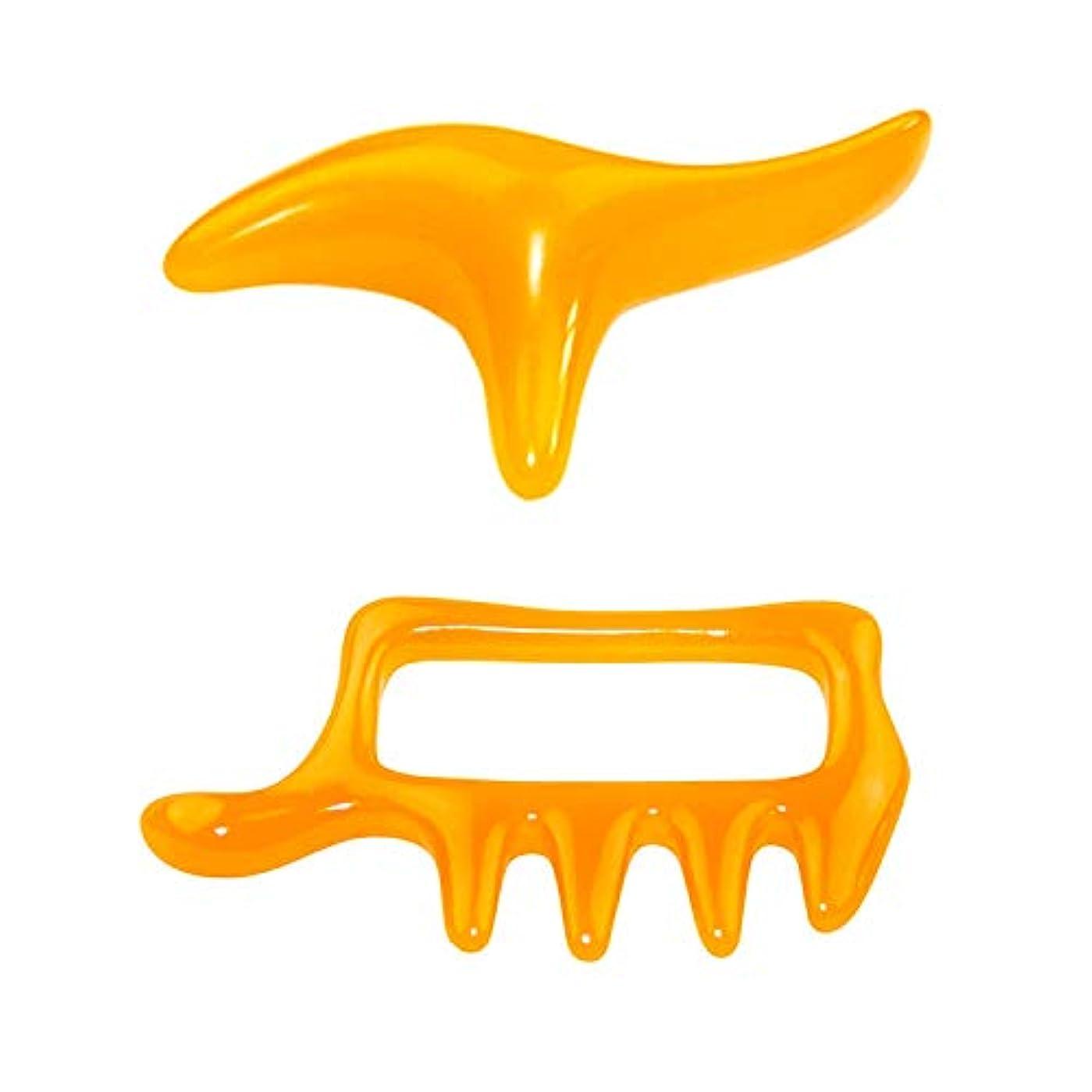 褐色転送常習的ツボ押し棒 肩/首/背中/足ツボマッサージ器具