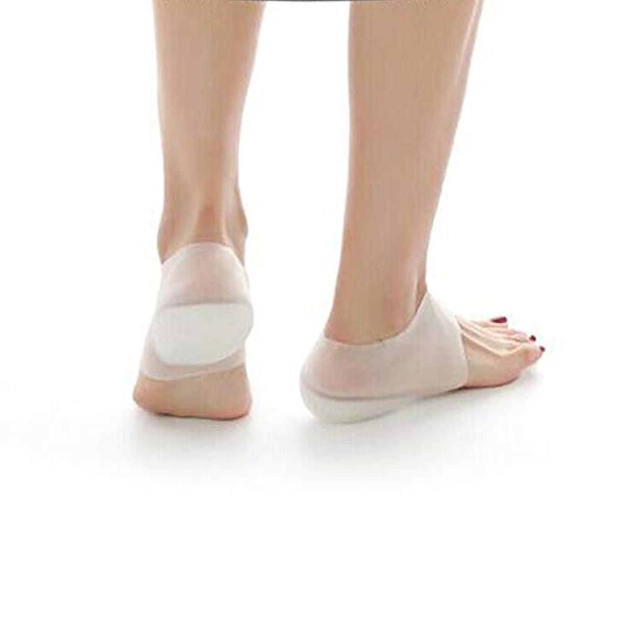 ラケット手書き促進するBesttoy見えない高めのヒールパッド、靴下の裏地、3 cm、インソールの追加、痛みの緩和、掃除が簡単、足のバランスと足の強度の改善、衝撃吸収、スリップと減圧、再利用可能と調整可能、女性男性