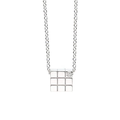 ソウルジュエリー ダイヤモンド シルバー SV925 キューブ ネックレス 遺骨ペンダント 手元供養