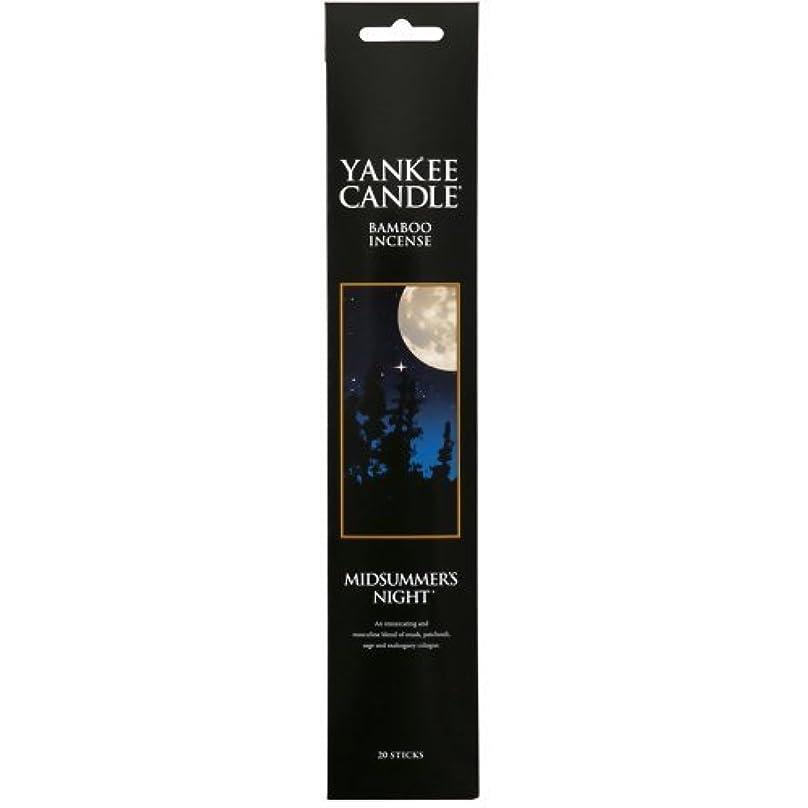祖母十倒産YANKEE CANDLE バンブーインセンス ミッドサマーナイト