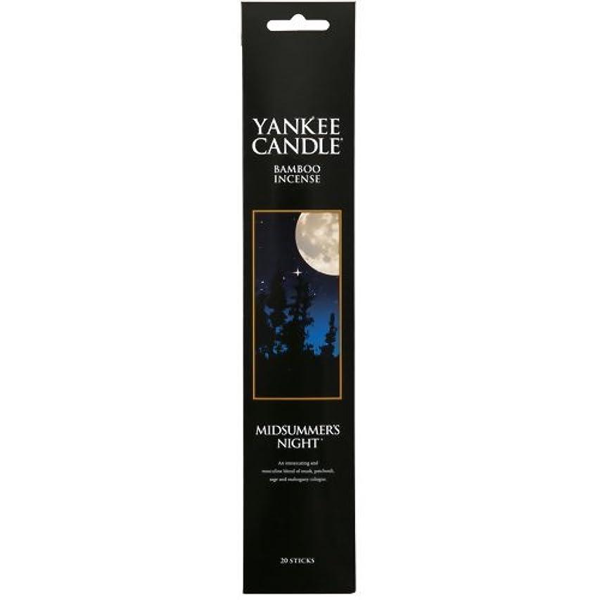 機知に富んだ影響を受けやすいです葡萄YANKEE CANDLE バンブーインセンス ミッドサマーナイト