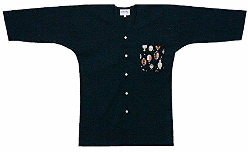 [해외]원 포인트 블랙 鯉口 셔츠 B628-631 S-3L/One point Black Koiuchi shirt B 628 - 631 S - 3 L