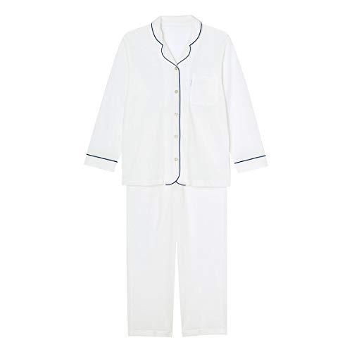 (ワコール)Wacoal 睡眠科学 ふわごころ 長袖 シャツ パジャマ ルームウェア 上下セット 綿100 通気性 レデ(