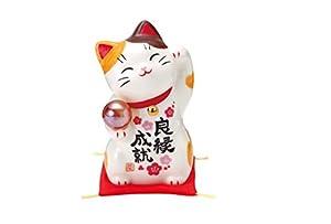 彩絵良縁成就招き猫(玉持ち) AM-Y7545