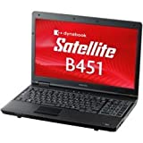 東芝 dynabook Satellite B451 Windows7Pro メモリ2GB HDD250GB Celeron 無線LAN PB451ENBNR7A51