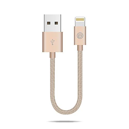 OPSO(オプソ)ライトニング USBケーブル Apple認証 iPhone 7 SE 6s Plus 6 5 5S iPad Air用 高耐久ナイロン 0.15m ローズゴールド