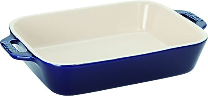 膨らませる奪うヒロイックstaub ストウブ 「 レクタンギュラー ディッシュ グランブルー 20×16cm 」 セラミック グラタン皿 オーブン 電子レンジ対応 【日本正規販売品】 Dish 40508-587