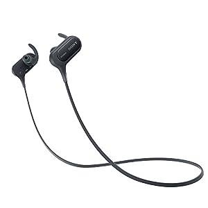 ソニー SONY ワイヤレスイヤホン MDR-XB50BS : 防滴/スポーツ向け Bluetooth対応 マイク付き ブラック MDR-XB50BS B