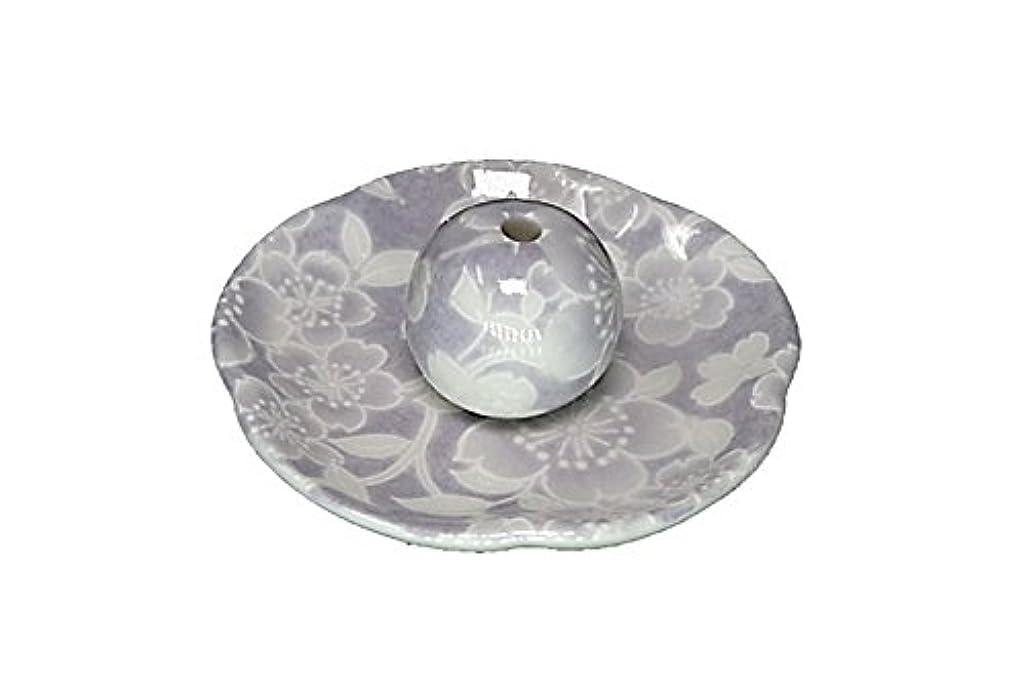 ピア首尾一貫した王位桜友禅 紫 花形香皿 お香立て 日本製 製造 直売品