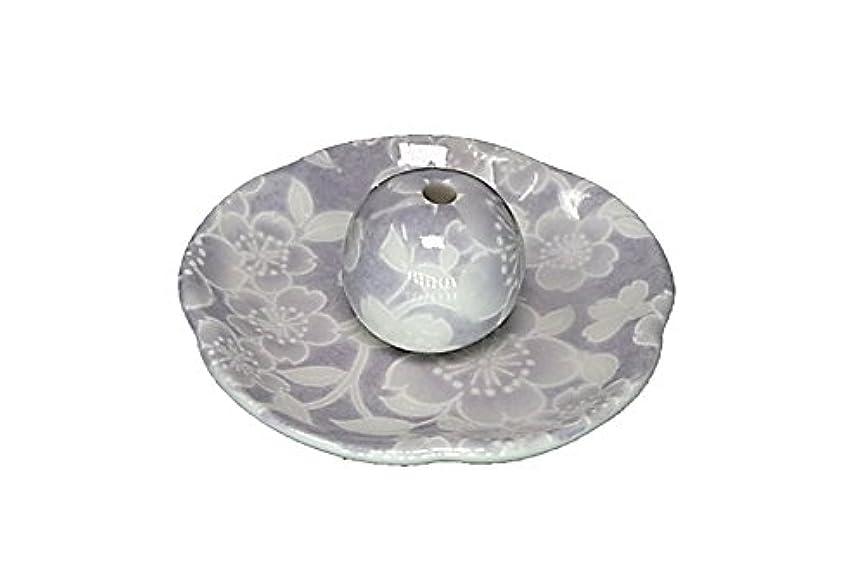 称賛レンズどうやら桜友禅 紫 花形香皿 お香立て 日本製 製造 直売品