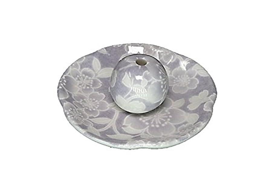 趣味支配的インストール桜友禅 紫 花形香皿 お香立て 日本製 製造 直売品