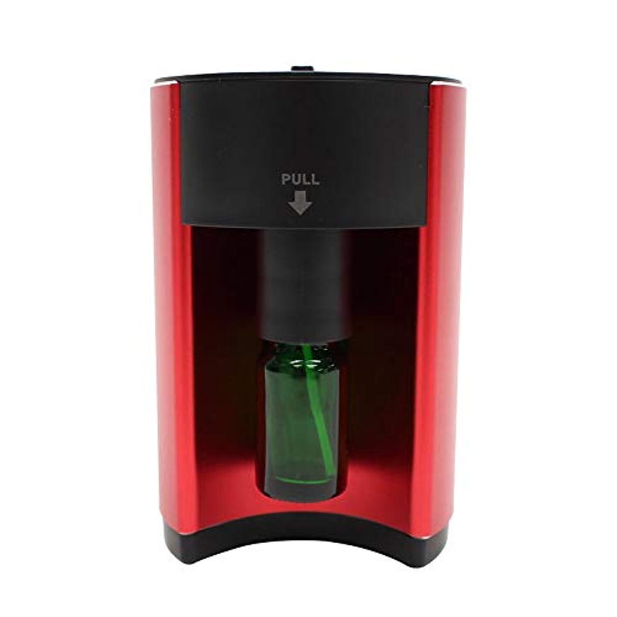 胸ナビゲーション追放するアロマディフューザー 噴霧式 自動停止 16段階モード設定 ECOモード搭載 水を使わない ネブライザー式 コンパクト AC電源式 香り 癒し レッド