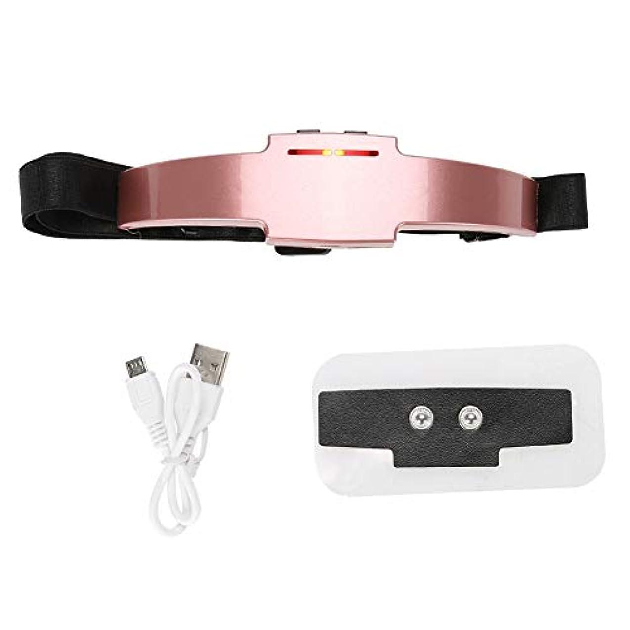 バリー影響アドバイス多機能の2色の電気ヘッドマッサージャー装置睡眠療法の睡眠機械(ローズゴールド)