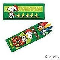 Peanutsクリスマスクレヨン~スヌーピー&ウッドストックwith Presents詰め物( 3パック)