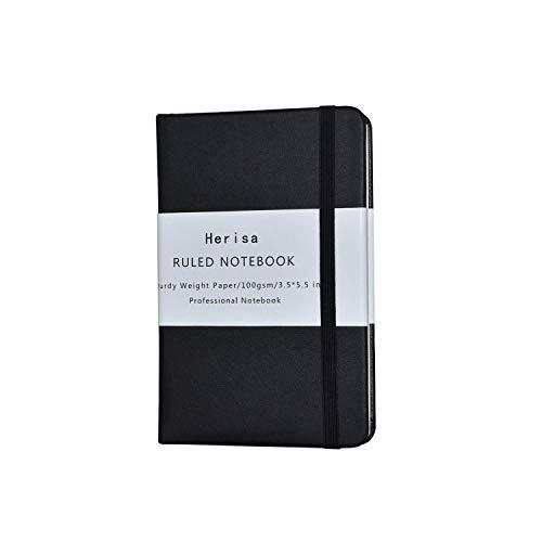 メモ帳 ノートブック 192ページ 140×89mm PUレザーハードカバー ビジネスパーソン 学生 デイリーユースに