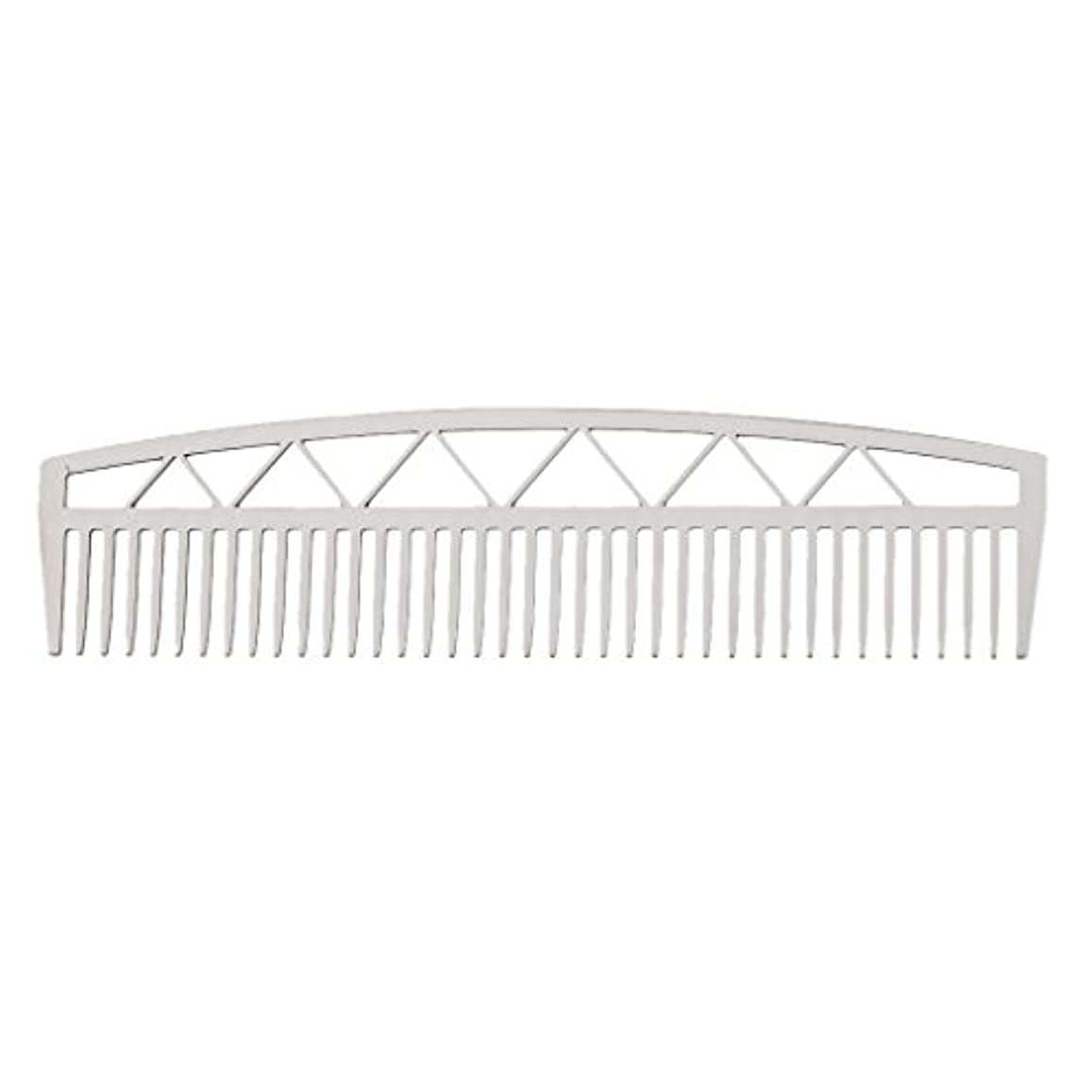 南方のすり測定ビアードコーム ヘアコーム ステンレス鋼 ひげ櫛 メンズ 便利 2タイプ - #2