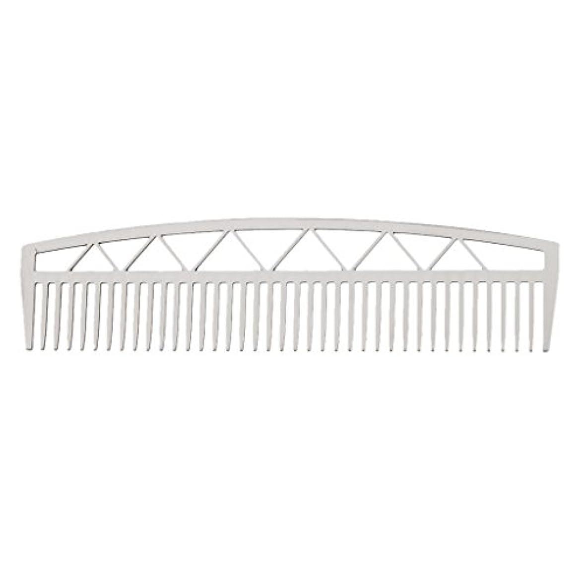 危険なコンチネンタル州Baosity ビアードコーム ヘアコーム ステンレス鋼 ひげ櫛 メンズ 便利 2タイプ  - #2