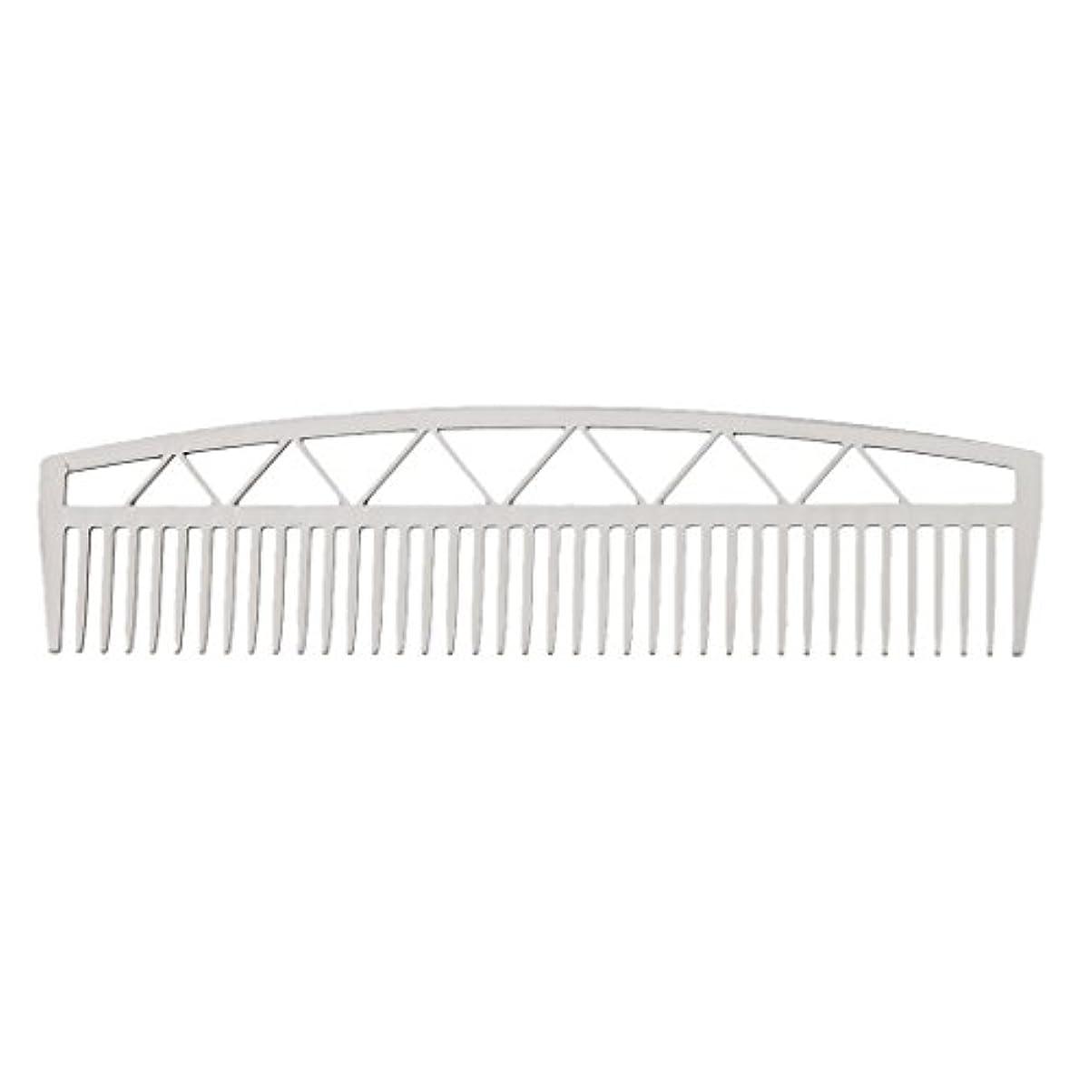 ずんぐりした天使集計ビアードコーム ヘアコーム ステンレス鋼 ひげ櫛 メンズ 便利 2タイプ - #2