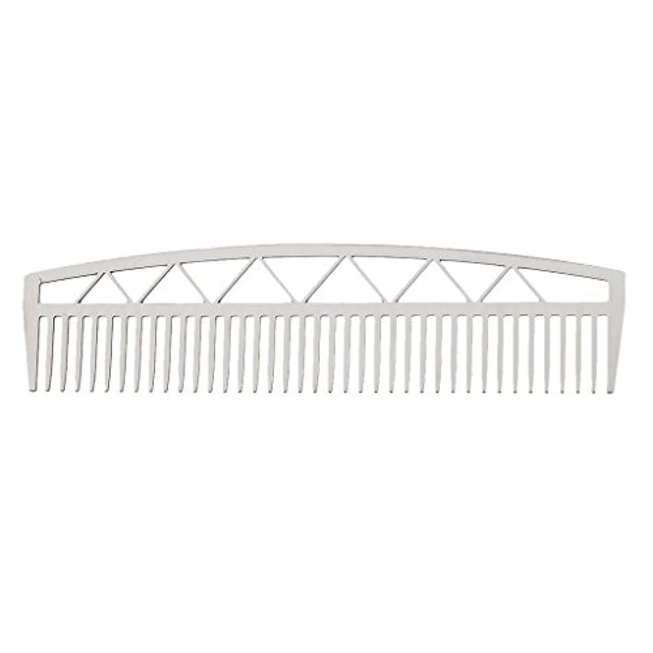 シットコム熱狂的な不適Baosity ビアードコーム ヘアコーム ステンレス鋼 ひげ櫛 メンズ 便利 2タイプ  - #2