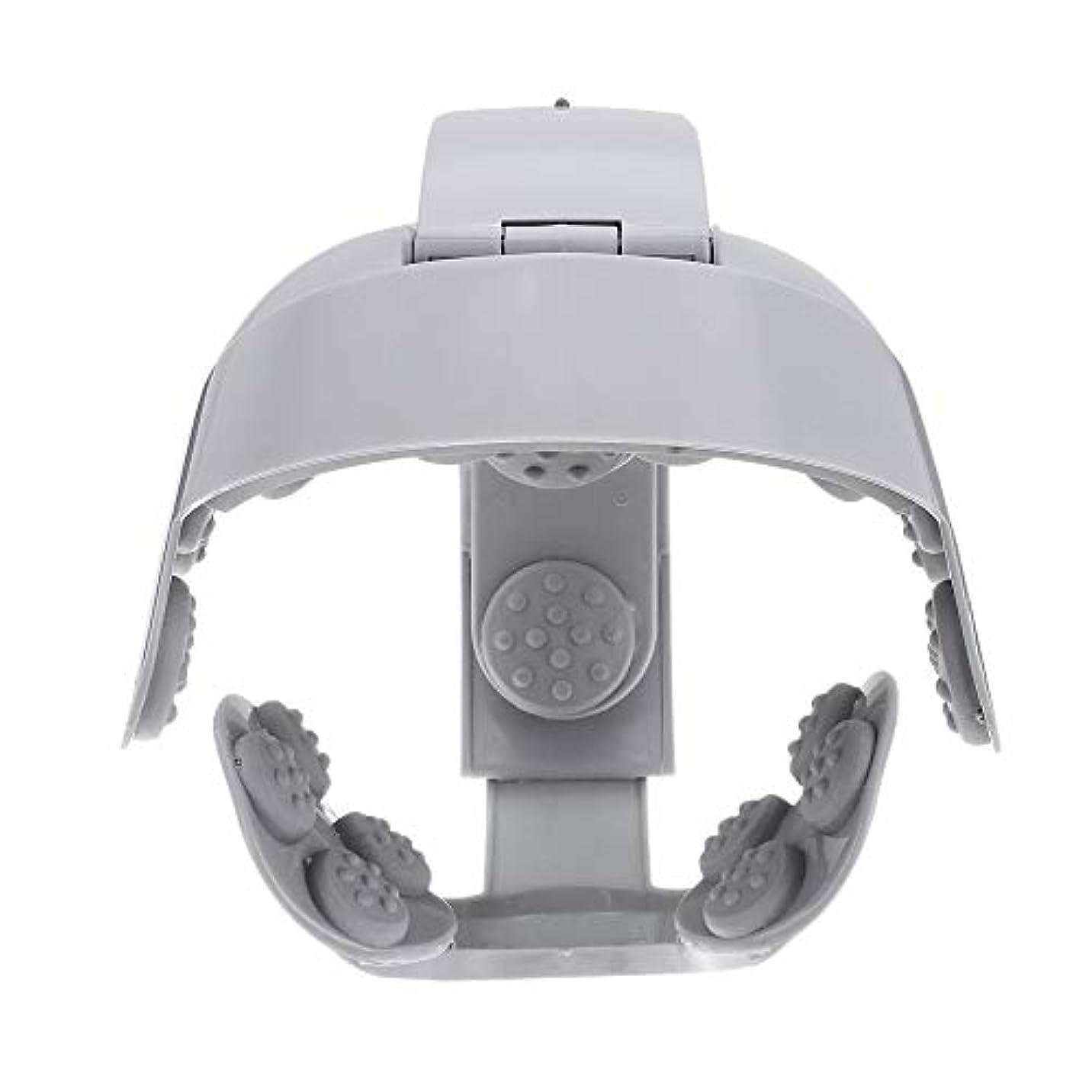 日食湿地フローACAMPTAR ヘッドバイブレーションマッサージ イージーブレインマッサージ 電動ヘッドマッサージ リラックス脳鍼ポイントストレスリリースマシン