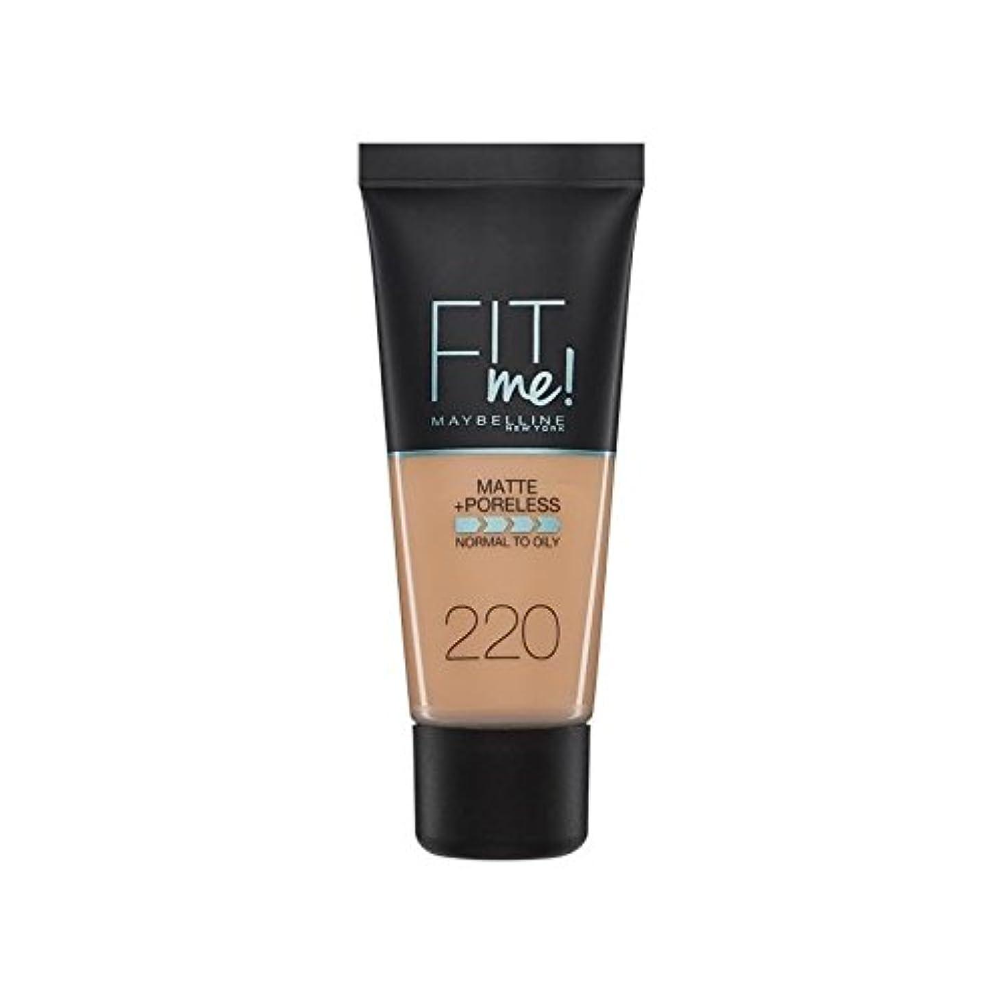土器バリアスキップMaybelline Fit Me Foundation Natural Beige 220 (Pack of 6) - メイベリン私に合う基礎ナチュラルベージュ220 x6 [並行輸入品]