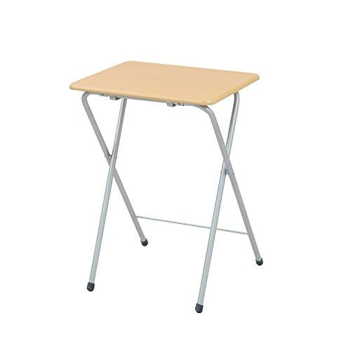 山善(YAMAZEN) テーブル ミニ 折りたたみ式 サイドテーブル 幅50×奥行48×高さ70cm ハイタイプ ナチュラル YST-5040H(NA/SG)