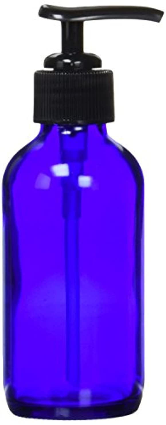 生活の木 青色ガラスポンプ瓶(120ml)