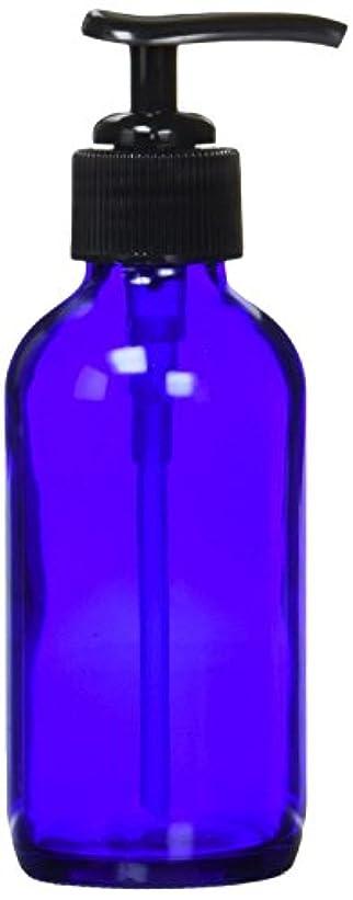 電話をかける高層ビル火山の生活の木 青色ガラスポンプ瓶(120ml)