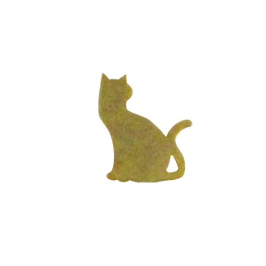 はさみ頬骨ふさわしいリトルプリティー ネイルアートパーツ 猫3 ゴールド 10個