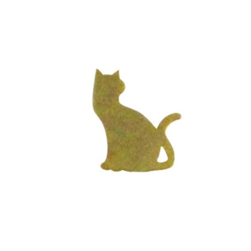 内側余計な解決するリトルプリティー ネイルアートパーツ 猫3 ゴールド 10個