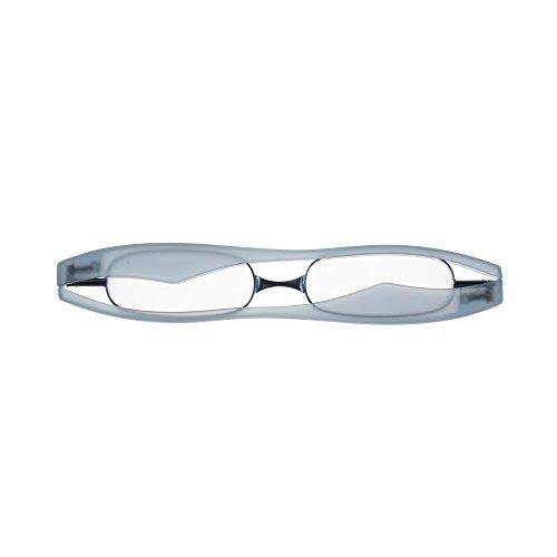 GLORY SHOP【ポッドリーダー】老眼鏡 コンパクトに収納 選べる6色 軽量 胸ポケットに入るサイズ リーディンググラス フラットレンズ採用 Pod Reader (+1.5, ブルー)