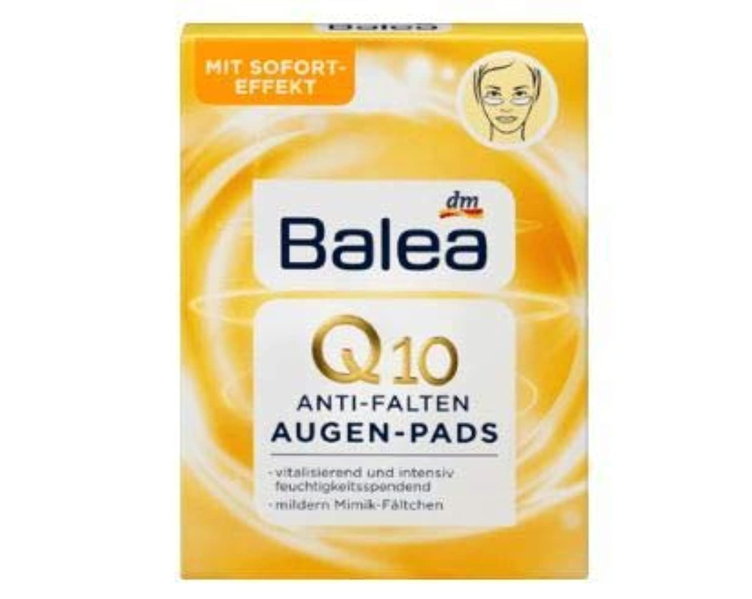 悲しむ高く呼吸Balea Q10 Anti-Wrinkle Eye Pads, 12 pcs