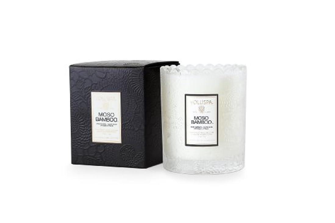 百する必要があるテレマコスVoluspa ボルスパ ジャポニカ スカラップグラスキャンドル モソ バンブー JAPONICA Glass Candle MOSO BAMBOO